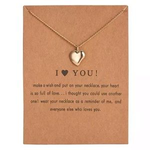 Jewelry - NEW!! ❤️ I <3 you Pendant Necklace